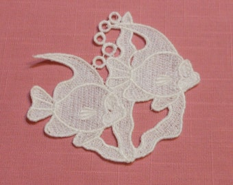 Lace Applique - Fish and Seaweed