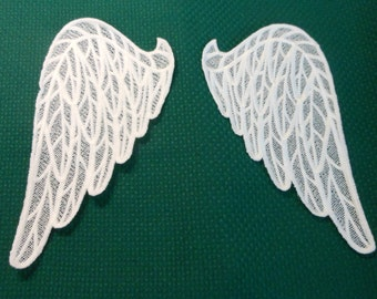 "Large white angel wings - applique or American Girl size 18"" doll"