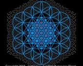 Luminaya men Tshirt, As Above, Sacred Geometry, Flower of Life