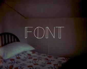 a font for love letters (art deco)