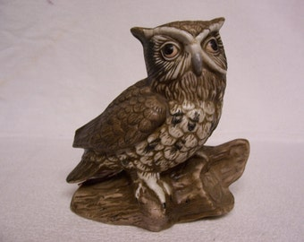 Vintage OWL Figurine  Japan Woodlands Owl ON SALE