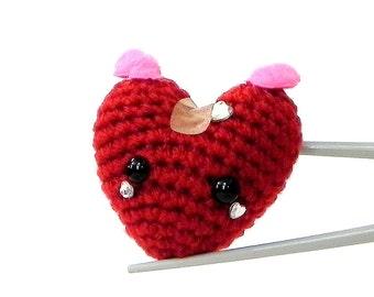 Crochet Amigurumi - Healing Heart MochiQtie - Amigurumi mochi size mini toy / doll