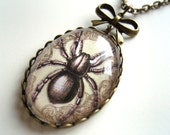 Gothic Spider Necklace