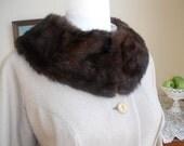 Chocolate Fur Collar