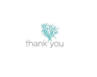 Botanical Thank You Card
