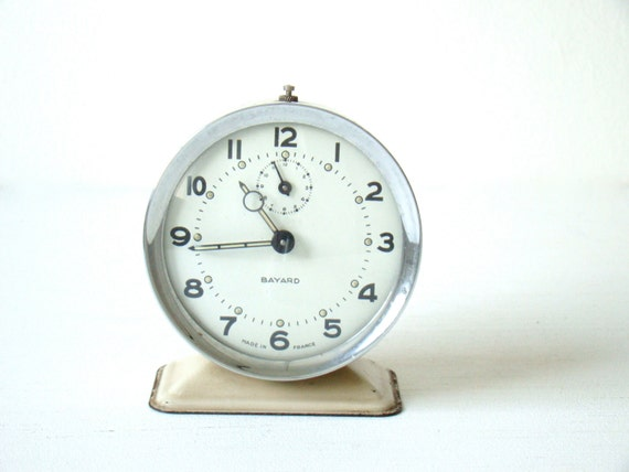 Vintage French Bayard Wind Up Alarm Clock By