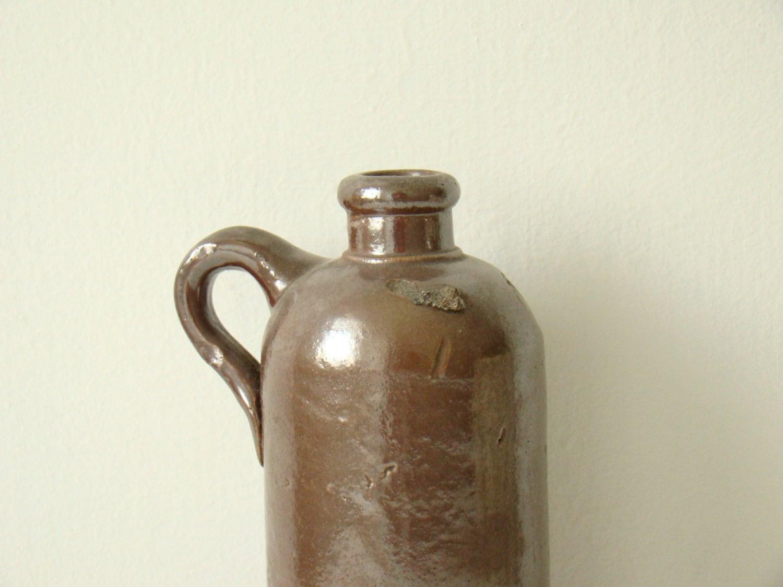 Bottiglia di porcellanato francese vintage marrone grande for Bottiglia in francese