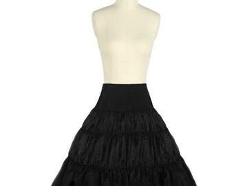 Black Petticoat Underskirt - Big Volume