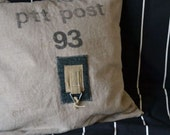 Unique Pillow Cover from old Dutch postbag
