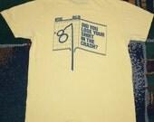Vintage 1987 Stock Market Crash Black Monday T-Shirt 1980's Yellow Dow Jones 80's Tee Shirt
