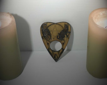 Lord Mocks  Small Cat and Owl Planchette(Spirit Pointer)