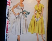 1950s Spring and Summer Dresses with Jacket, Simplicity Pattern 4305