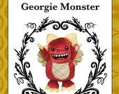 Georgie Monster - plush toy monster pattern