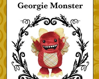 Georgie Monster - plush toy monster pattern