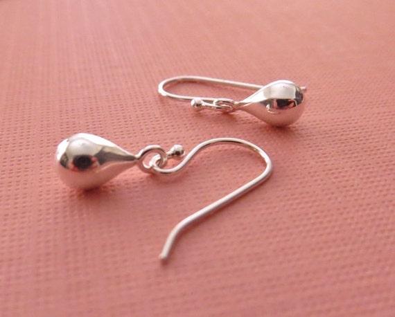 Drops of Silver Earrings in Sterling Silver - Silver Drop Earrings
