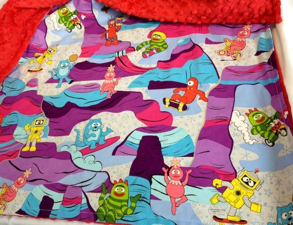 Big Kid Muno Land Red Minky Blanket by Brookidlyn on Etsy