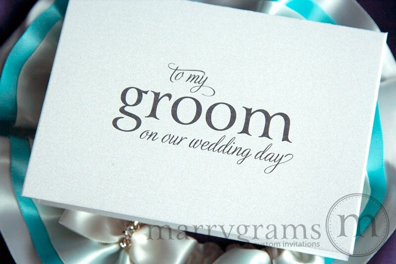 wedding card to your groom on your our wedding day groom