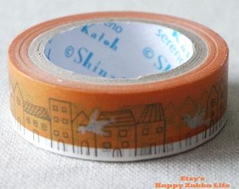 Japanese Washi Masking Tape - Happy Birds - Shinzi Katoh - 11 Yards
