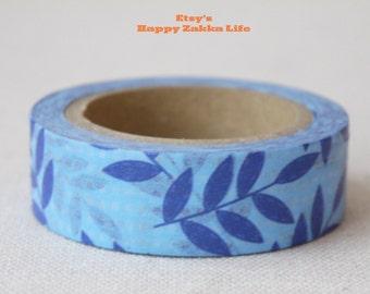 Blue Branch - Japanese Washi Masking Tape - 11 yards