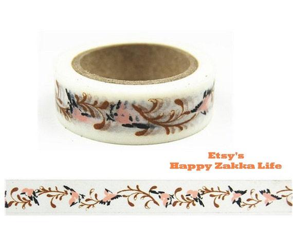 Japanese Washi Masking Tape - Bird and Branch - Chinese Traditional Style - 11 yards