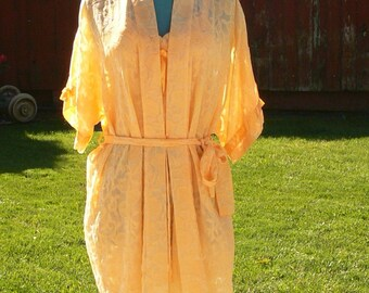 hand dyed short robe and nightgown size os