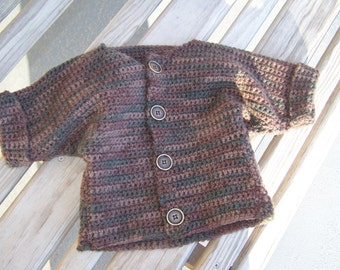 Crocheted Baby Sweater- 12to 18 mo