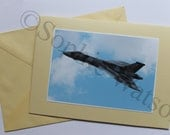 Vulcan Bomber (XH558) (left side) Aircraft Photo Greetings Card