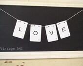 Vintage Letter Banner LOVE
