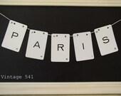 Vintage Letter Banner PARIS