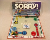 Sorry Board Game Free Shipping Parker 1972 100% Complete White Box Vintage