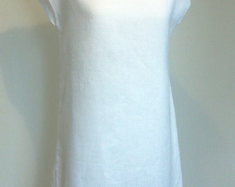 Linen  white  tunic dress