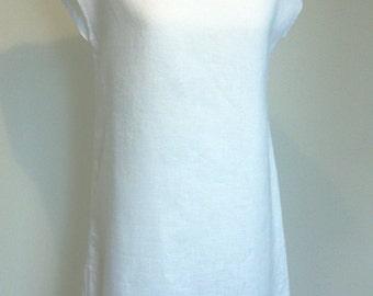 Linen  white  tunic dress