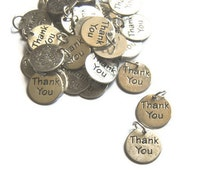 50 Thank You Charms With a Ring for party favors embellishment