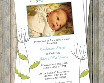 Baby Shower with photo, sip and see