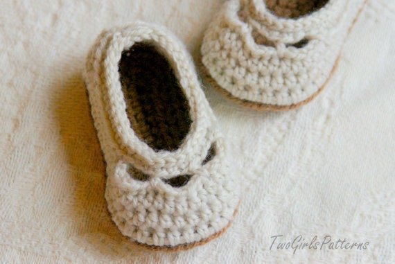 Crochet Patterns - Baby Shoe Yoke Ballet Slipper - PDF Crochet Pattern number 109 - Instant Download L