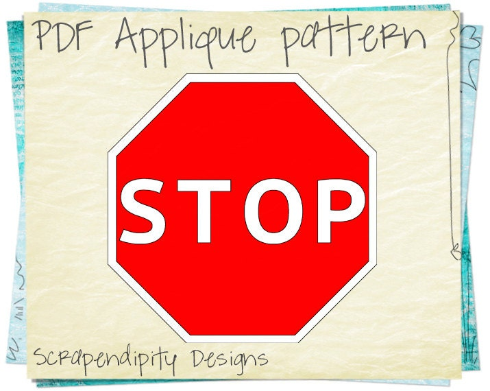 Stop Sign t Shirt Stop Sign Applique Pattern