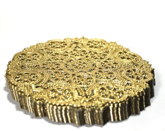 50 Gold 5 inch paper doilies, gold foil doilies, round doilies, party decorations, wedding supply