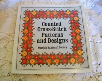 Swedish Cross Stitch Pattern Book 1976 destash