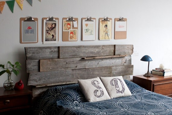 Wooden Head Table ~ Items similar to reclaimed wood head board backdrop