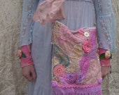 Gypsy Lace Faerie Garden Recycled Pink Lilac Bag