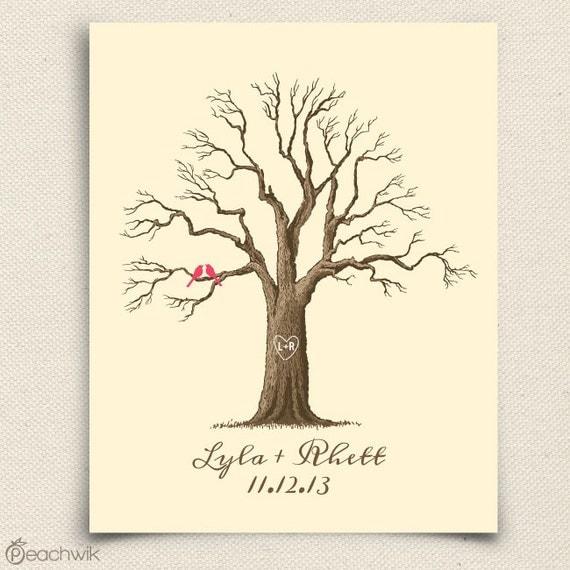 Wedding Guest Signing Tree: Wedding Guest Book Tree The Maplewik A Peachwik By Peachwik