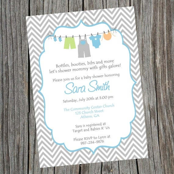 Baby Shower Invitations Wording For Boys: Printable Boy Baby Shower Invitation. Printable Baby Boy