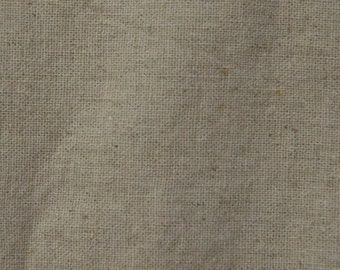 Linen/Cotton Blend Fabric in Natural/Tan