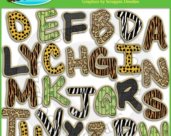 Jungle Alphabet Clip Art