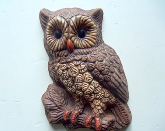 Vintage Hoot Owl Wall Hanging 1970s