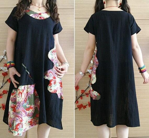women black summer dress