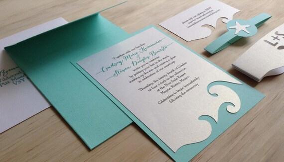 Etsy Beach Wedding Invitations: Beach Wedding Invitation Destination Wedding Invitation