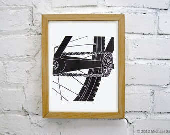 Mountain Bike Art - Singlespeed Fixie