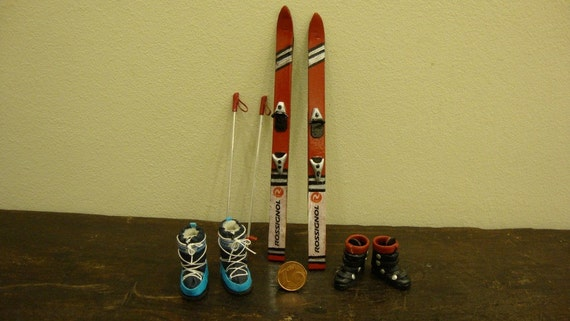 Miniature Ski Set