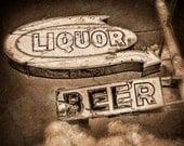Vintage Liquor Store Sign DO2846 Fine Art Digital Photo 8x10